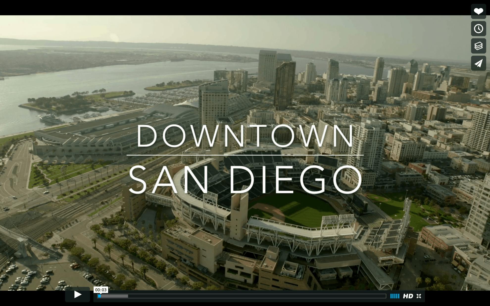 Downtown San Diego Aerial Photo