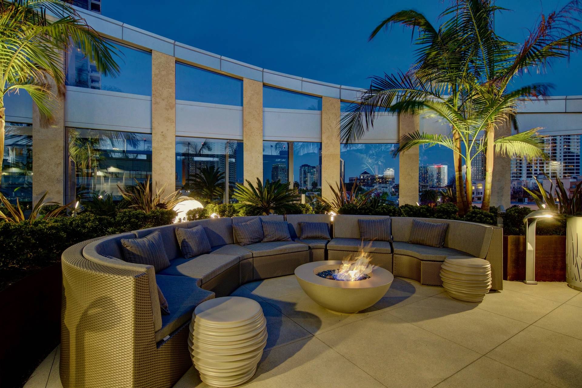 Outdoor Lounge at Sunset Pacific Gate San Diego
