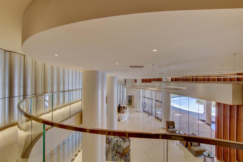 Lobby at Pacific Gate viewed from 2nd floor
