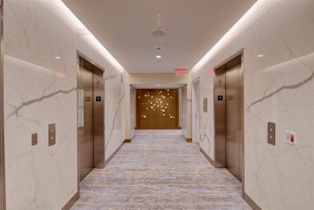 Pacific Gate Elevator Hallway