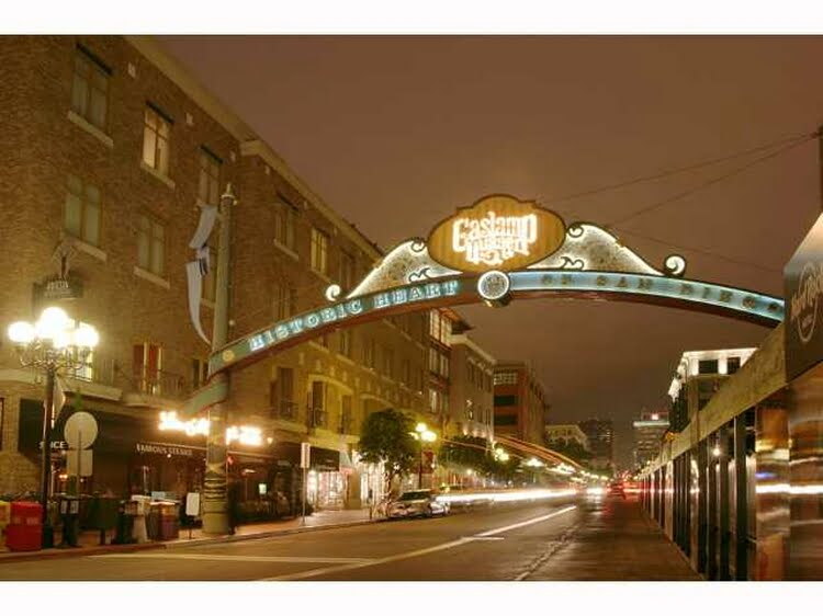 Right on the Gaslamp District